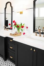Black And White Subway Tile Bathroom Black And White Bathroom With Subway Tile Shower Interesting Tile