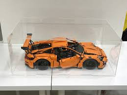 lego porsche minifig scale 42056 lego technic porsche 911 gt3 rs acrylic display case