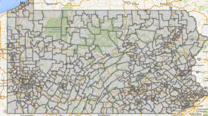Pennsylvania Township Map by Pennsylvania Teacher Salary Map The Morning Call