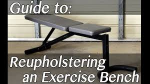 how to make u0026 upholster an adjustable exercise bench youtube