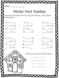 here u0027s a set of recording sheets for working on fact families