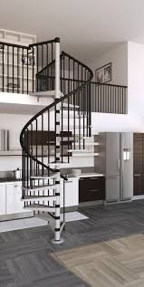spiral staircase metal steps steel frame without risers