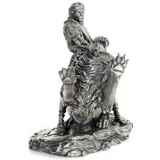 silver lion statue 20 oz antique finish samson and the lion silver statues jm bullion