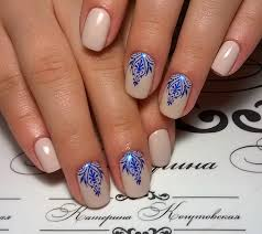 blue and white water marble nail art sbbb info