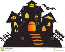 black haunted ghost house illustration stock illustration image