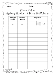 place value mystery number place value drawing base 10 representations and rounding
