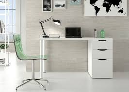 Computer Desk White Gloss Madrid White Gloss Office Table Desk By Furniture Factor Amazon