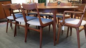 8 danish dining room chairs by erik christensen an orange moon