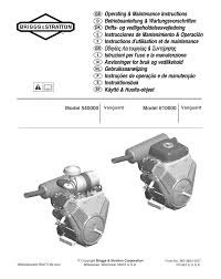 briggs u0026 stratton vanguard 610000 user manual 10 pages also