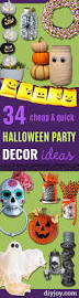 34 cheap and quick halloween party decor ideas diy joy