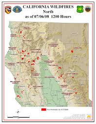 Wildfire Davis Ca by Southern California Map Fires California Map