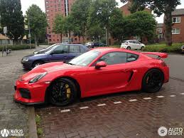 porsche gtr 4 porsche cayman gt4 spotted in bright red