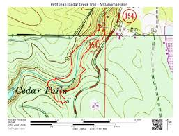 Buffalo Creek Trail Map Petit Jean Cedar Creek Trail 1 Mi Arklahoma Hiker