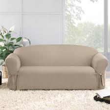 Cotton Duck Sofa Slipcover Sure Fit Cotton Duck Box Cushion Sofa Slipcover U0026 Reviews Wayfair Ca