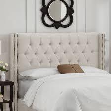 bedroom fabulous wayfair leather headboard bed frames and