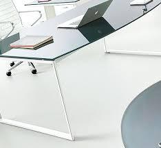 bureau verre blanc bureau verre et metal plateau de bureau en verre graphite et pied