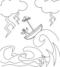 coloring pages jesus in the storm the sea being crossed by jesus