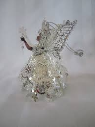 lee graves christmas fairy ornament gold and silver christmas