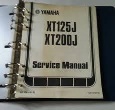 1982 yamaha xt125j xt200j motorcycle service manual lit 11616