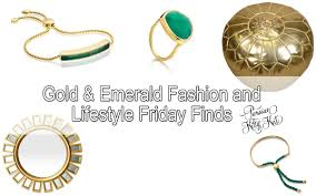 gold and emerald jewelry fashion u0026 lifestyle friday finds