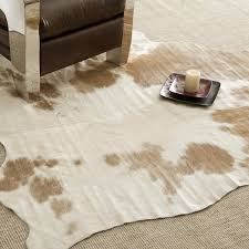 Calfskin Rug Amazon Com Cowhide Rug Light Brown Spots Kitchen U0026 Dining