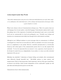 actions speak louder than words essay in house counsel resume