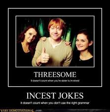Threesome Memes - incest jokes very demotivational demotivational posters very