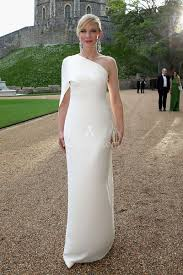 cate blanchett white one shoulder sheath evening