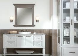 shaker style frameless recessed in wall bathroom medicine storage