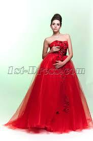 beautiful red empire wedding dress with black bow 1st dress com