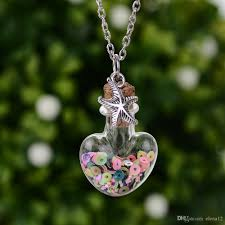 glass bottle necklace images Wholesale wishing bottle necklace drift heart bottle pendant mini jpg