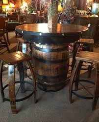 Pub Bar Table Wiskey Barrel Table Rustic Pub Table Whiskey Barrel Pub Table