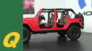 jeep unveils seven new concepts jeep unveils the red rock edition wrangler jku youtube