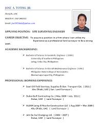 resume sle for job application in philippines time part time surveyor resume sales surveyor lewesmr