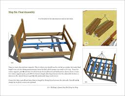 Woodworking Plans For Beds Free by Free Woodworking Plan Making A Queen Size Bed Step By Step Jeff