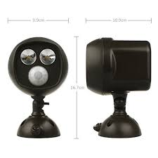 Outdoor Motion Sensor Security Lights by Isolem Outdoor Battery Operated Motion Sensor Night Light