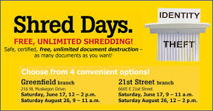 where to shred papers for free free document shred days in indianapolis and greenfield family