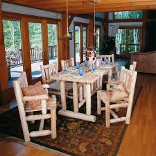 harvest dining room table log harvest dining table cabin place