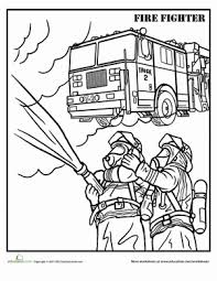 firefighter coloring firefighters firefighter worksheets