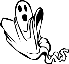 clipart floating ghost plain