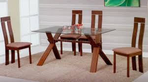 Polished Laminate Flooring Glass Top Dining Table Sets Pine Laminate Flooring Walnut Kernels