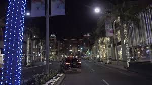 beverly hills christmas lights rodeo drive beverly hills christmas decorations stock video footage