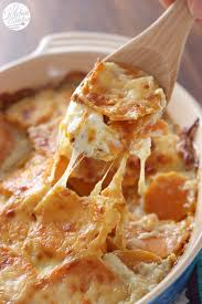 thanksgiving side dishes healthy cheesy scalloped sweet potatoes a kitchen addiction