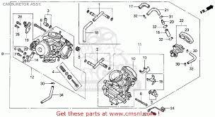 honda vt1100c shadow 1100 1996 t usa california carburetor assy