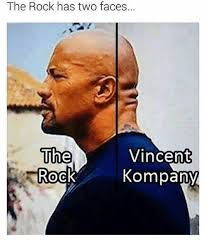 Vincent Meme - the rock has two faces vincent the rock kompany meme on me me