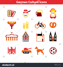 german culture icon set stock vector 210497656