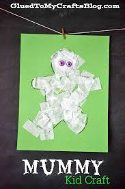 paper mummy kid craft
