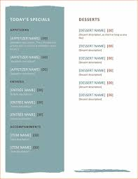 free word menu templates 7 free menu templates for word procedure template sle