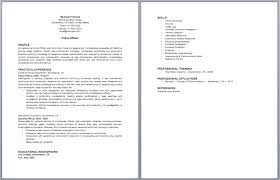 Law Enforcement Resume Samples by Resume Sample Law Enforcement Professional Page 1 Police Officer