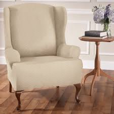 wing chair slipcover furniture raise the bar stretch wing chair slipcovers with chair